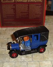 MATCHBOX - MODELS OF YESTERYEAR - 1907 UNIC TAXI - DARK BLUE/BLACK- Y-28 - BOXED