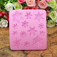 Snowflake Silicone Fondant Cake Mold Chocolate Candy Mould Decorating DIY Hot