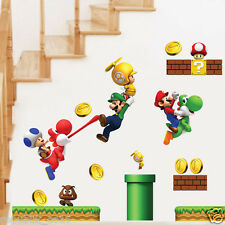 VINILO DE PARED, DECORACION DEL HOGAR, PEGATINA DE PARED, SUPER MARIO BROS,NIÑOS