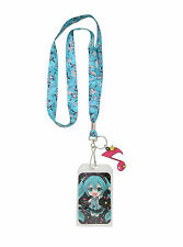 Hatsune Miku Diva Music Vocaloid Blue Sparkly Lanyard Neckstrap Id card Holder