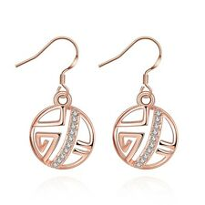 NEW 1Pair Platinum  Plated CZ Party Drop Dangle Earrings NF