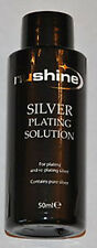NUSHINE SILVER PLATING SOLUTION -PLATE METALS WITH REAL SILVER - FREE UK POSTAGE