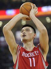 Yao Ming Signed PSA Houston Rockets PSA jersey un used