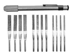 12pc High Quality Diamond Coated File Filling Shaping Set with Pocket Clip