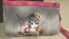 Disney Harveys Tinker Bell Retired Purse Clutch Pink Gray Sold Out Mint New HTF