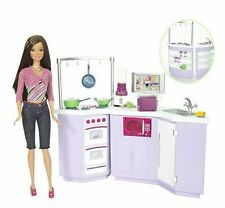 BARBIE MY HOUSE KITCHEN & DOLL SET TERESA L9484 2007 *NEW