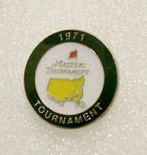 U.S. MASTERS 1971  WON BY CHARLES COODY  STEMMED GOLF BALL MARKER & CASE