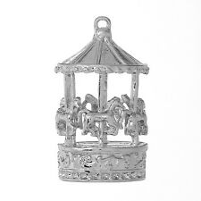 1 SILVER TONE CAROUSEL - MERRY-GO-ROUND - CHARMS