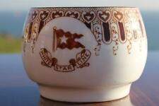 WHITE STAR LINE RMS OLYMPIC TITANIC ERA 1ST CL RARE BROWN WISTERIA TEA CUP