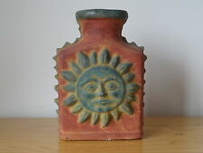 Ancient Antique Pre-Columbian Mexican Pottery Aztec or Mayan Clay Bottle Vase