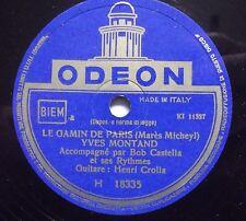 """78 rpm-10""""-YVES MONTAND-C'EST A L'AURE/LE GAMIN DE PARIS"""