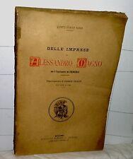 Quinto Curzio Rufio  DELLE IMPRESE DI ALESSANDRO MAGNO  Milano 1893