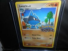 Pokemon RUMBLE EDITION FOIL STAMPED **LUCARIO** 12/16 2009 METAL CLAW MT/NM
