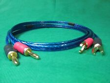 Samurai  TRUE 10 Gauge Wire Speaker Cable 2 Banana Plugs to 2 Spades , 1.5 Ft.