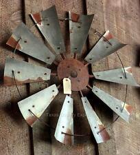 """30"""" Rustic Windmill Head Fan Western Ranch Barn Farmhouse Wall Decor"""