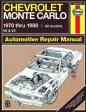 Chevrolet Monte Carlo '70'88 (Haynes Manuals) by Haynes