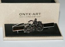 Mens Tie Bar - Old MOTORBIKE Design * New * Gift Boxed