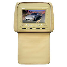 "NEW Pyle PL72HRTN Adjustable Headrest 7"" LCD Monitor W/ Cover (Tan)"