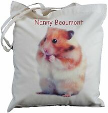 PERSONALISED HAMSTER COTTON SHOULDER BAG Pet Shopper