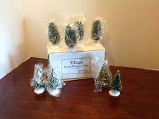 Dept 56 Frosted Topiary Trees Set Of 8 NIB #5202-7