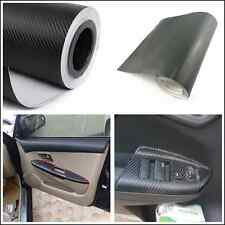 Car Interior Twill-Weave Black Carbon Fiber Vinyl Wrap Film Sheet Decal Sticker