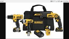 DEWALT 12V MAX Li-Ion 4-Tool Combo Kit DCK413S2 New
