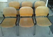 lot 6 chaises design GIRSBERGER mobilier suisse