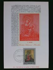 VATICAN MK 1971 MADONNA & JESUS CHRISTUS MAXIMUMKARTE MAXIMUM CARD MC CM c6225