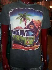 men t shirt PEACE vw car beetle van sea HIPPIE YOGA COTTON Hobo boho M NO TIME