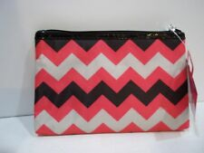 Caboodles Pink Chevron Make-Up Cosmetic Travel Case Bag total tote accessory