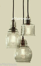 POTTERY BARN Paxton Glass 3-Light Pendant Chandelier, NEW - Retails @ 249