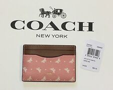 NWT Coach Butterfly Flat Card Case Credit Card Holder F59787 Blush/Chalk $65