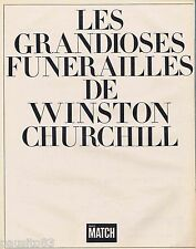 COUPURE DE PRESSE CLIPPING 1965 Les Funérailles de Winston Churchill  (52 pages)