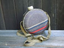 Vintage army style round shoulder carry water flask