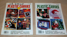 Lot of 2 Plastic Canvas Corner Magazine, January 1996 & 1997, Christmas Patterns