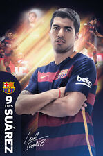 LUIS SUAREZ 2016 - BARCELONA POSTER - 24 x 36 FOOTBALL SOCCER FC 34098