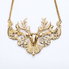N560 Betsey Johnson Gold Santa Christmas Deer Necklace US