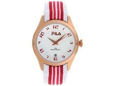 Fila Midsize Matchday Watch FA 0992-24 White Red Accessory New