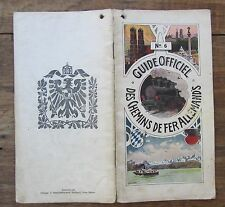 ANCIEN GUIDE OFFICIEL DES CHEMINS DE FER ALLEMANDS 1900