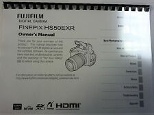 FUJI FUJIFILM FINEPIX HS50EXR PRINTED INSTRUCTION MANUAL USER GUIDE 140 PAGES