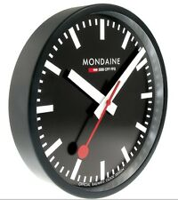 MONDAINE Official Swiss Railways WALL CLOCK 25cm Black (A990.CLOCK.64SBB)
