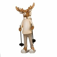 Clayre Eef Christmas Decoration Reindeer Poly Resin 5 4 13cm