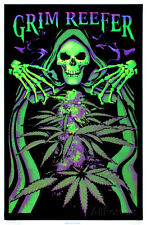 Grim Reefer Marijuana Pot Blacklight Poster Print Blacklight Poster, 24x36