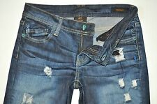 Genetic Denim The Riley Factory Destroyed Boot Cut Jeans 25X27 Stretch AWESOME