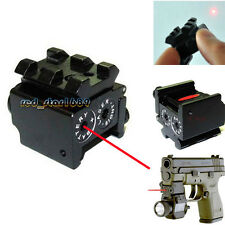 Dual Weaver Rail Mount Mini Red Laser Sight Scope for Hunting Pistol Handgun