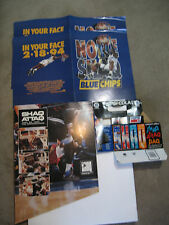 1993 Vintage Reebok Shaq Attaq Shoe Display Blue Chips Poster + Pepsi Bottle Paq