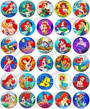 30 x The Little Mermaid Ariel Edible Rice Wafer Paper Cupcake Toppers