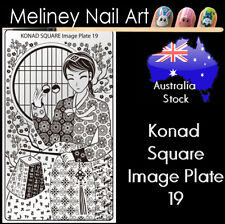 Konad Square Image Plate 19 for Stamping Nail Art Transfer Stencils Korean