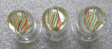 "antique matched set 3 color core 7/8"" marble from same cane"