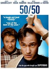 50/50 (DVD 2011) Comedy with Seth Rogen, Anjelica Huston, Outrageous, Funny, R